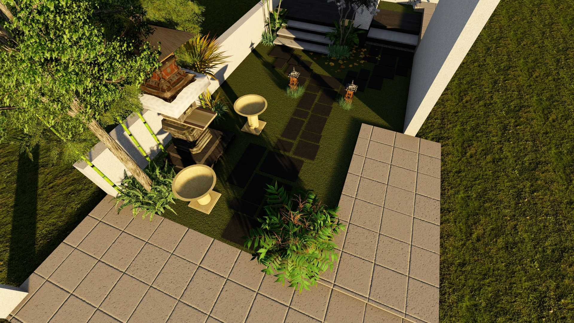 Afina Rahmani Design & Built Balinese Garden Pulomas - Jakarta Timur Pulomas - Jakarta Timur 3D Taman Depan - 2   25510