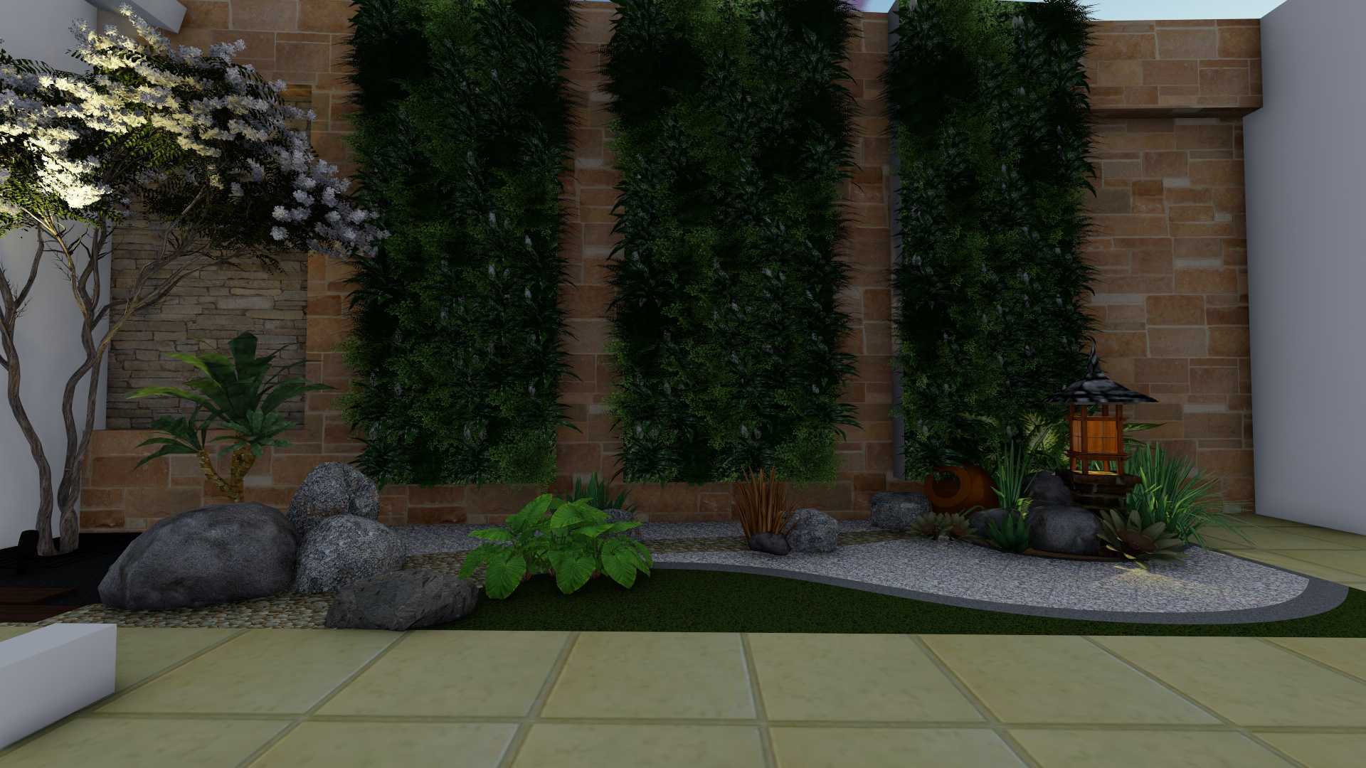 Afina Rahmani Design & Built Balinese Garden Pulomas - Jakarta Timur Pulomas - Jakarta Timur 3D Taman Belakang - 2   25514