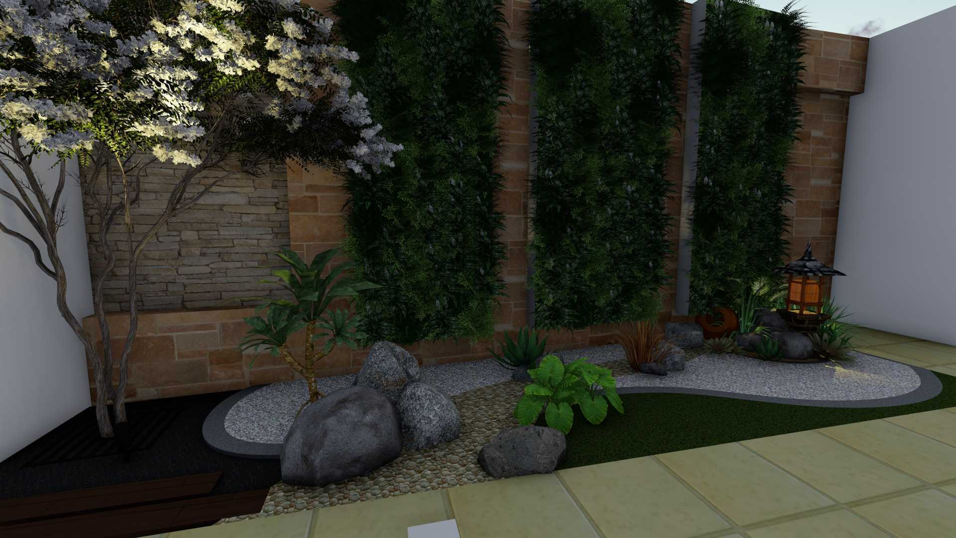 Afina Rahmani Design & Built Balinese Garden Pulomas - Jakarta Timur Pulomas - Jakarta Timur 3D Taman Belakang - 3   25515