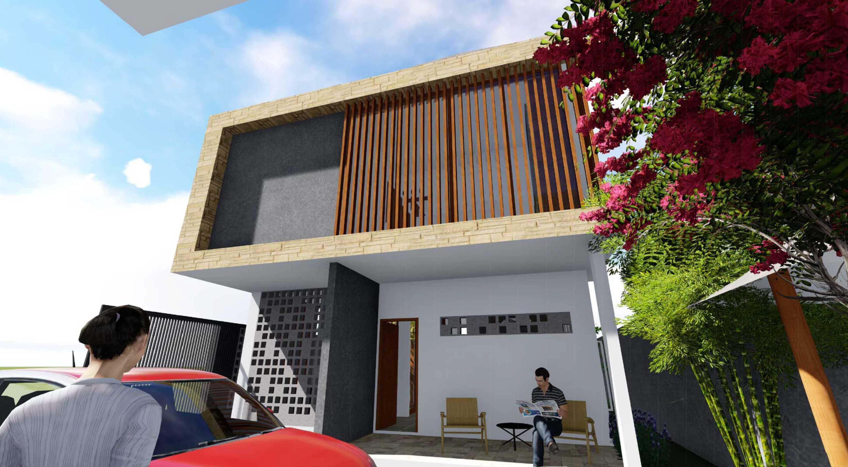 Hizkia Firsto Giovanni Griya Kirana Jakarta Jakarta Terrace  Pintu Masuk Utama.  Minim Bukaan Besar Untuk Menghindari Panas Matahari Barat. Banyak Lubang Udara Untuk Cross Ventilasi. 21415