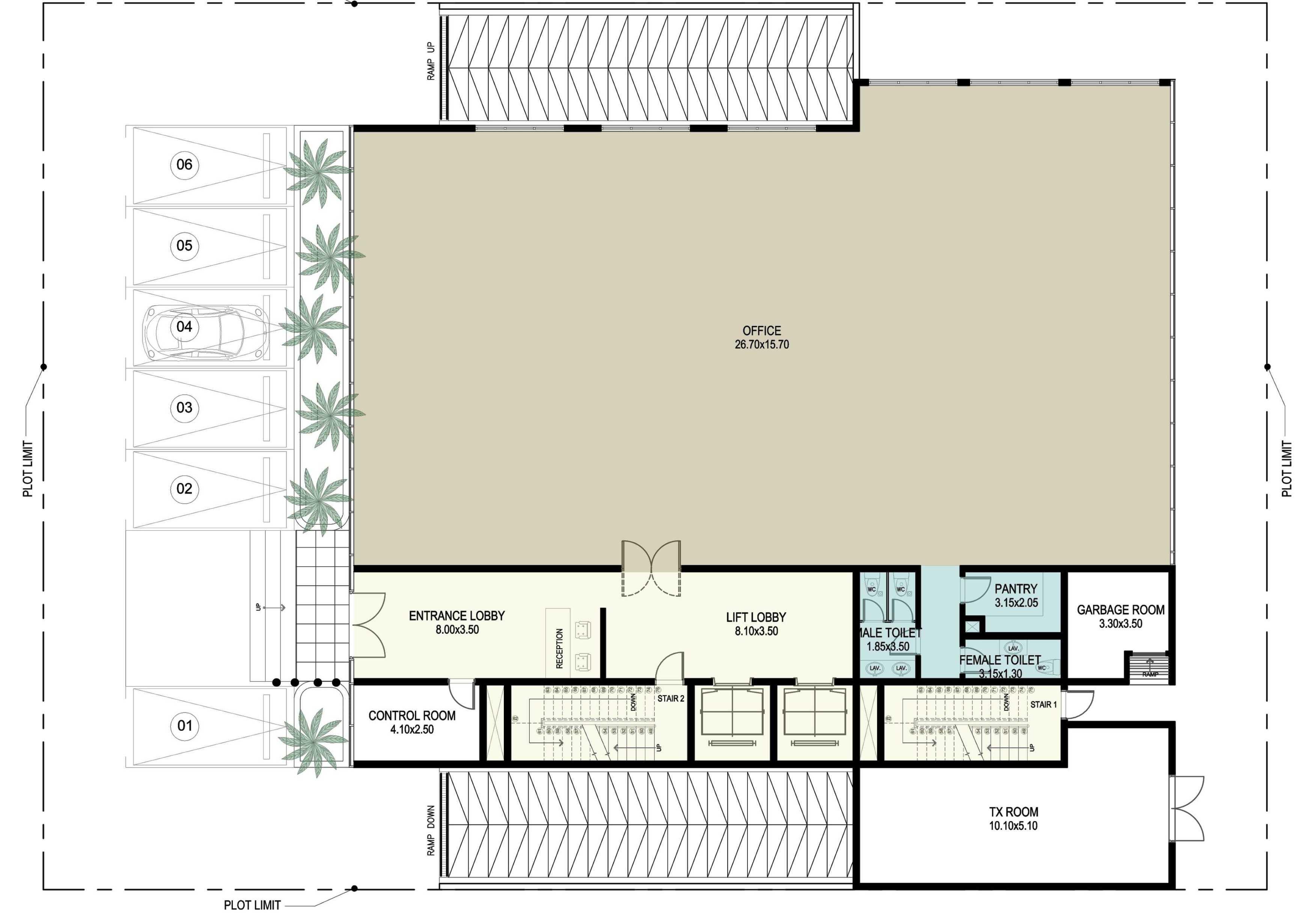 Ayu Fatmawati Al Bandary Office Rawdat Al Khail, Doha , Qatar Rawdat Al Khail, Doha , Qatar Ground Floor Plan   17785