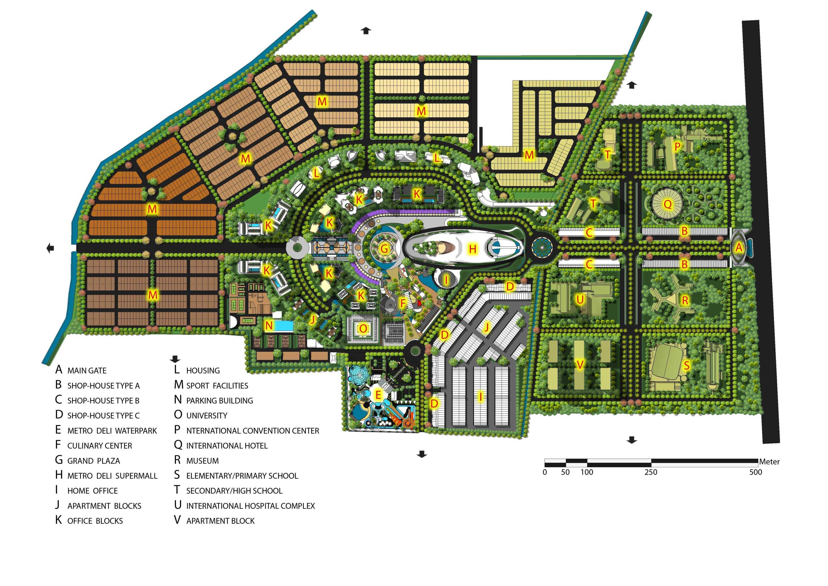 Adi Cipta Estetika Metro Deli Tiara Medan Medan Pd1101-Masterplan-Color-Plan-120228   18177