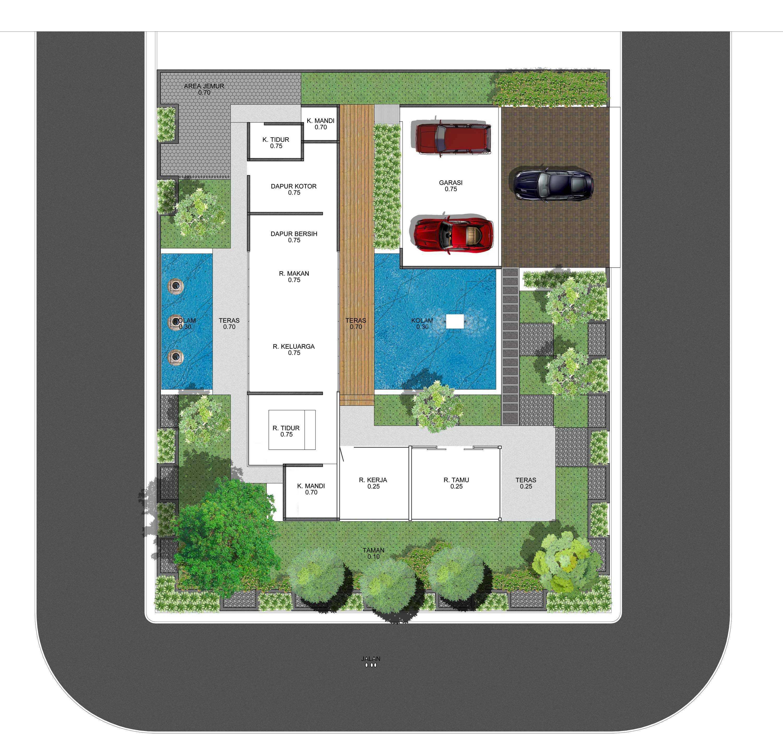 Adi Cipta Estetika Private House I Banjarmasin, Kalsel Banjarmasin, Kalsel Denah-3-Material-Tanaman   20268