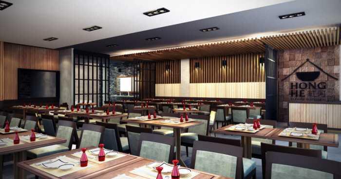 Rendrahandy Hong He Restaurant Pantai Indah Kapuk Pantai Indah Kapuk Dining Area Minimalis,asian,wood,modern  17844