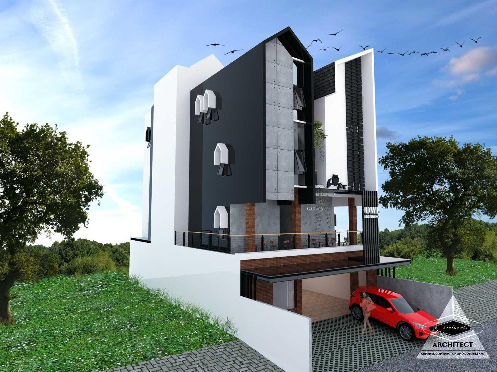 Jevi N Associates Owl Residence Lippo Karawaci Lippo Karawaci Side View Industrial,kontemporer  24211
