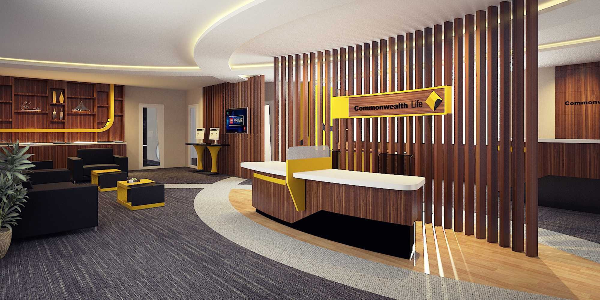 Tb Design Studio Commonwealth Life New Office Jakarta Jakarta Cro & Waiting Room   27723
