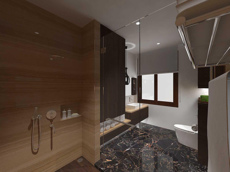 E'architect (Emil Yusman) Desain Interior Rumah Riscon Hills Jl. Bambu Hitam No.76, Rt.4/rw.1, Cipayung, Kota Jakarta Timur, Daerah Khusus Ibukota Jakarta 13840, Indonesia East Jakarta Master-Bathroom Modern  20176