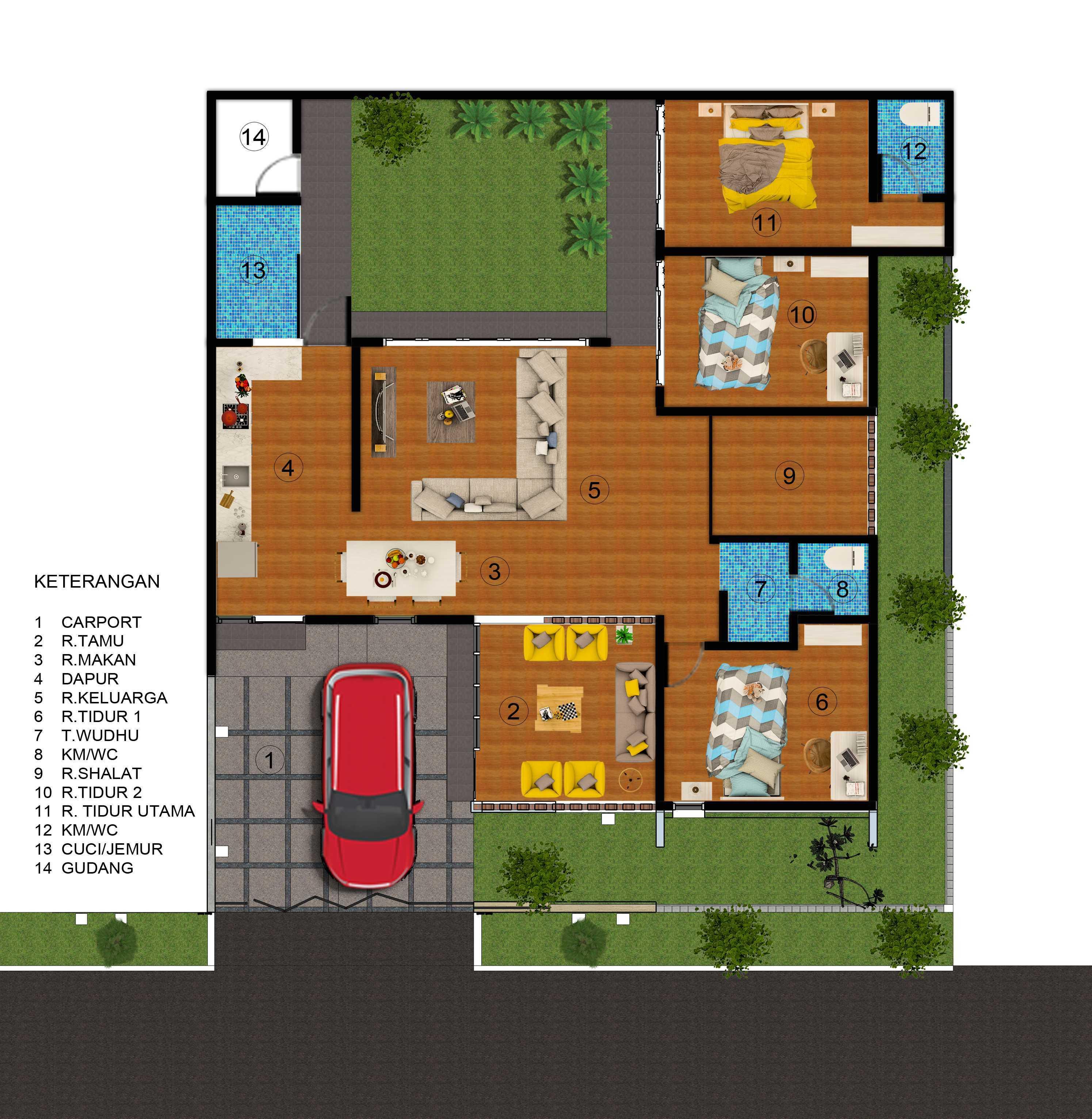 Arsatama Architect K-House - Yogyakarta Kabupaten Sleman, Daerah Istimewa Yogyakarta, Indonesia Yogyakarta, Indonesia Denah-K-House Modern,minimalis,kontemporer  23355