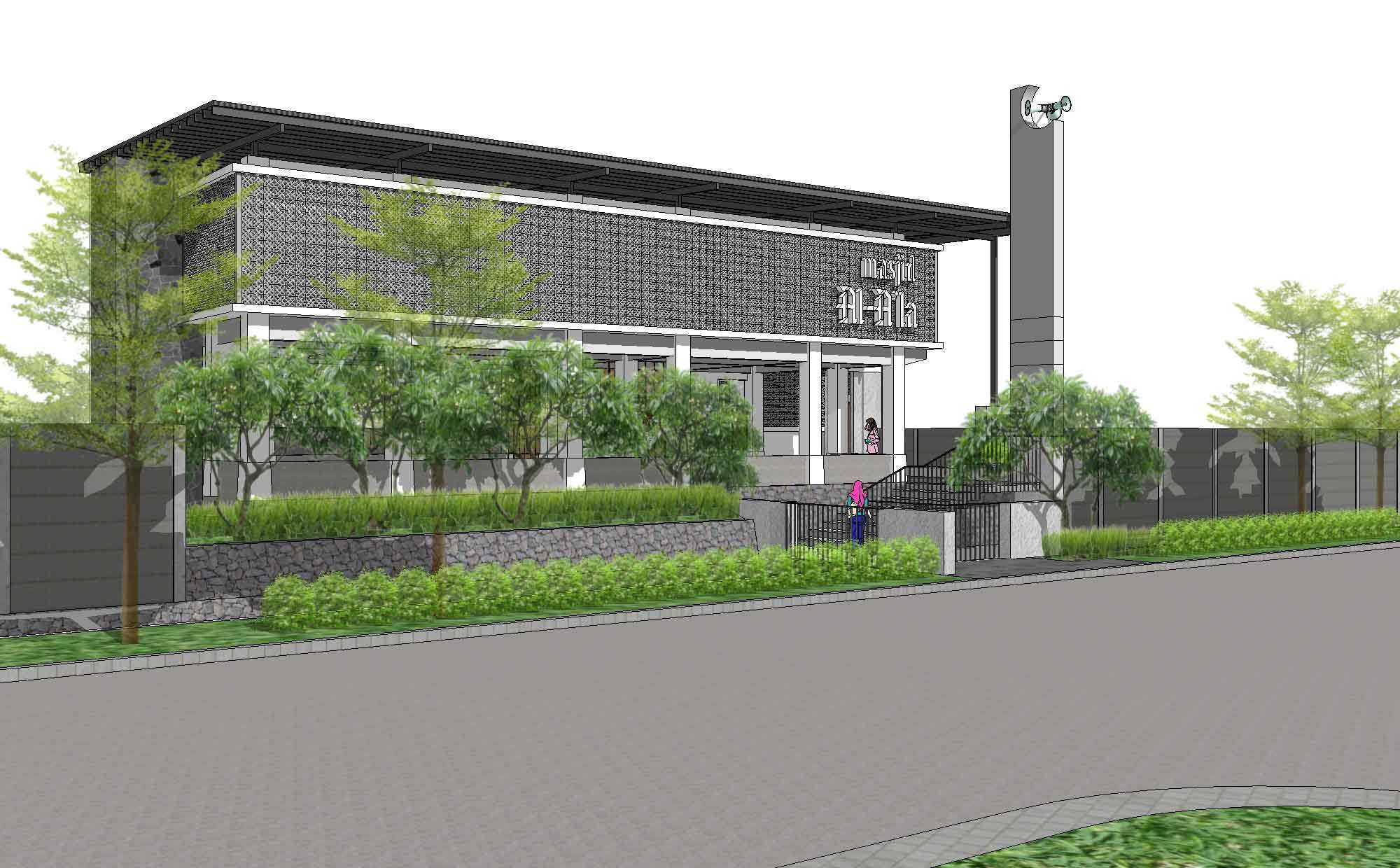 I N S P I R A T I O Eldora Mosque Tangerang, Indonesia Tangerang, Indonesia Front View Modern  19215