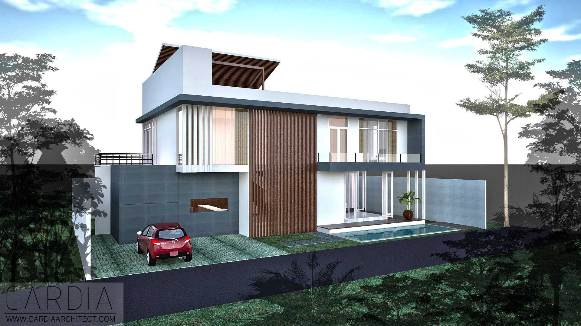 Cardia Architect Mr House Maumere, Kota Uneng, Alok, Kabupaten Sikka, Nusa Tenggara Tim., Indonesia Maumere Front View Minimalis,modern <P>View From Street With Pool</p> 21577