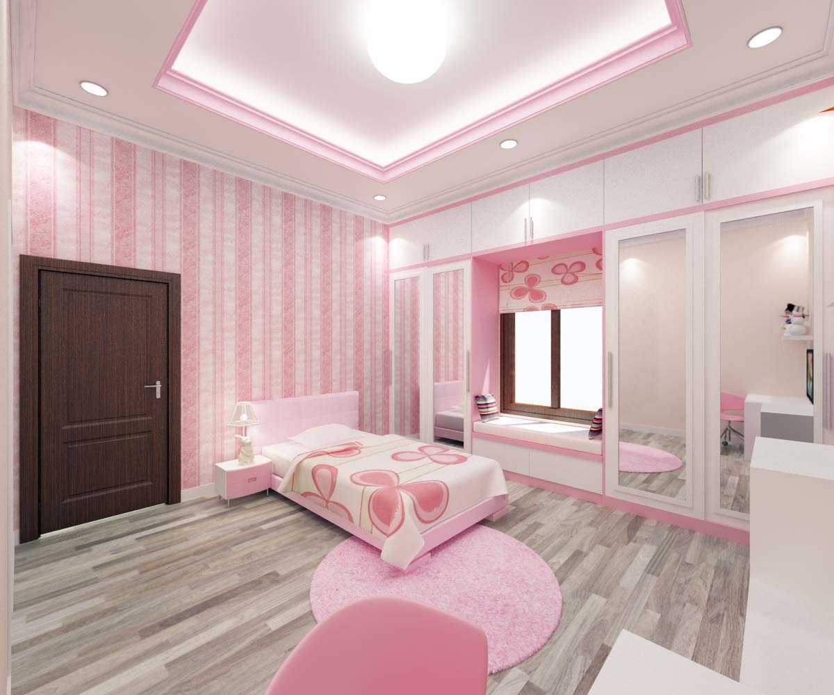 Valentine Oriza Modern Classic House Design Ketapang Regency, West Kalimantan, Indonesia Pontianak, West Kalimantan, Indonesia Kids-Bedroom-Girl-03 Kontemporer  30298