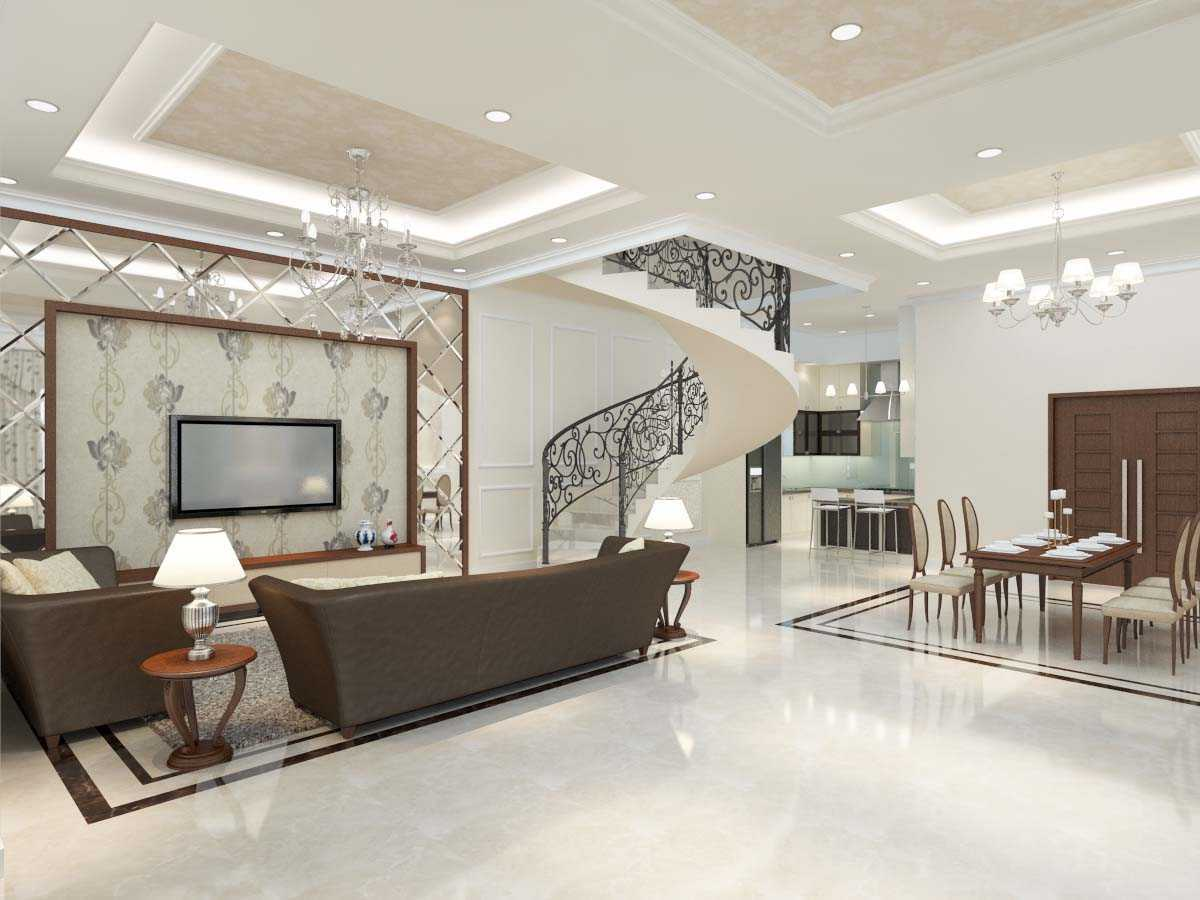 Valentine Oriza Modern Classic House Design Ketapang Regency, West Kalimantan, Indonesia Pontianak, West Kalimantan, Indonesia Livingroom-02 Kontemporer  30299