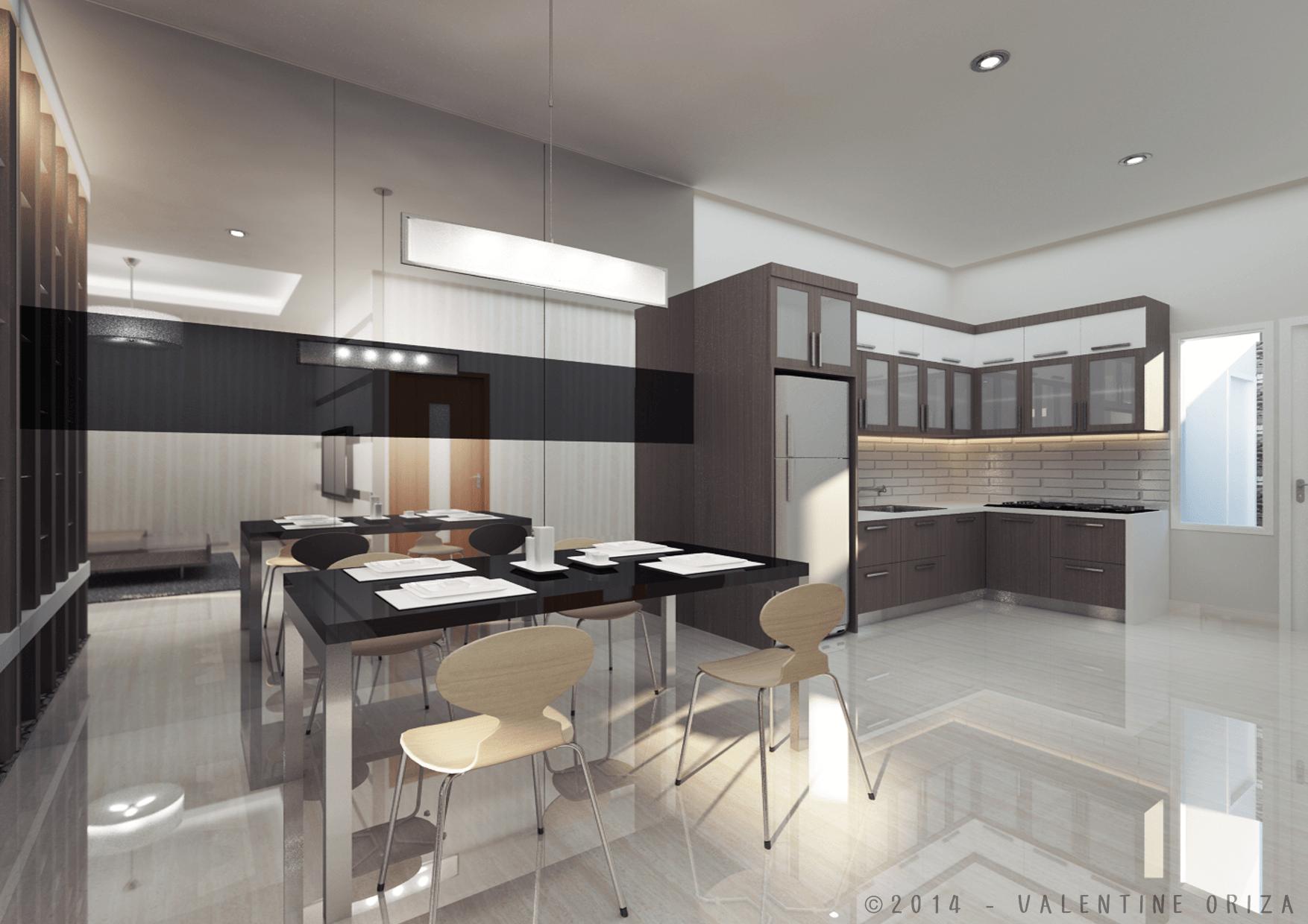 Valentine Oriza Modern Home  Jakarta, Indonesia Copyright-Diningroom Modern  30380