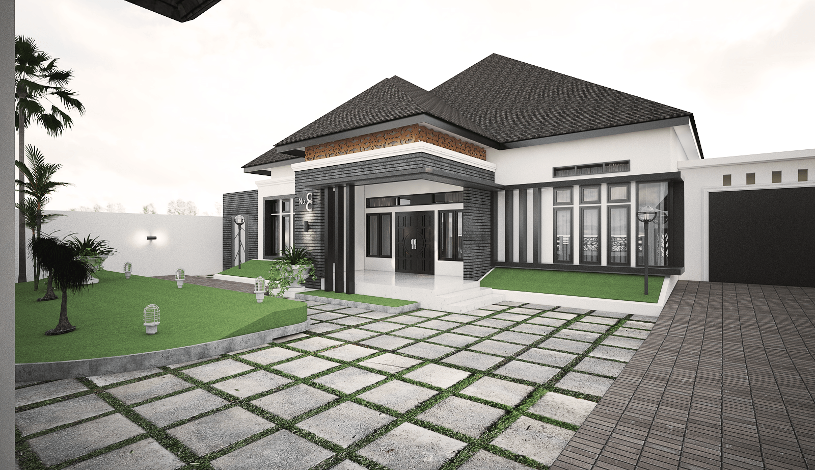 Yay Architect Concept Classic Modern House Bireun, Aceh, Indonesia Bireun, Aceh, Indonesia E   28377