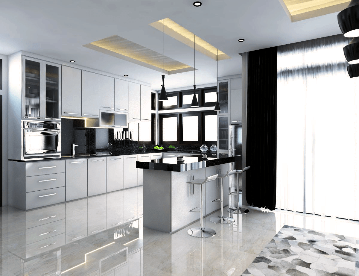 Yay Architect Concept Classic Modern House Bireun, Aceh, Indonesia Bireun, Aceh, Indonesia Island-Kitchen   28380