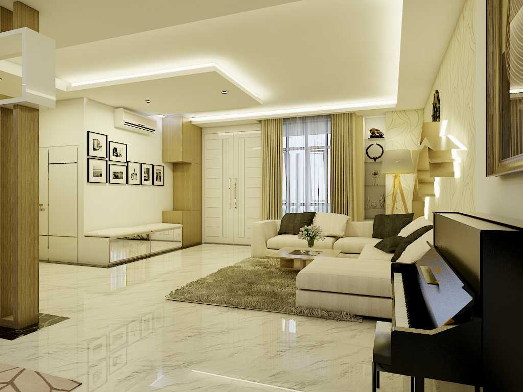 Yay Architect Concept Modern Minimalist House Medan, Indonesia Medan, Indonesia Living Area Minimalis,modern  29628