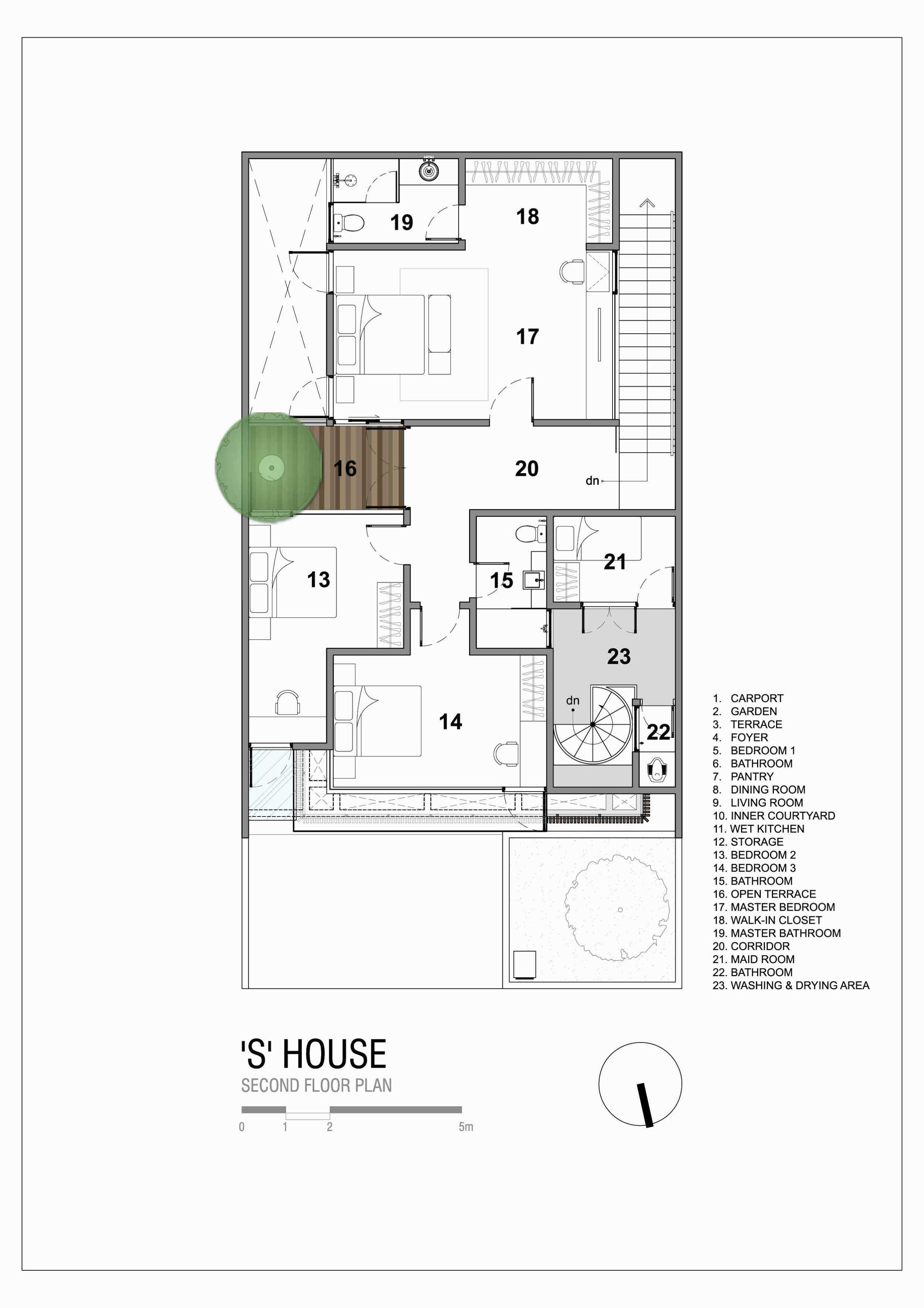 """Simple Projects Architecture """"s"""" House Pakuwon Indah, Surabaya - Indonesia Pakuwon Indah, Surabaya - Indonesia Shouse-Second-Floor-Plan   45728"""