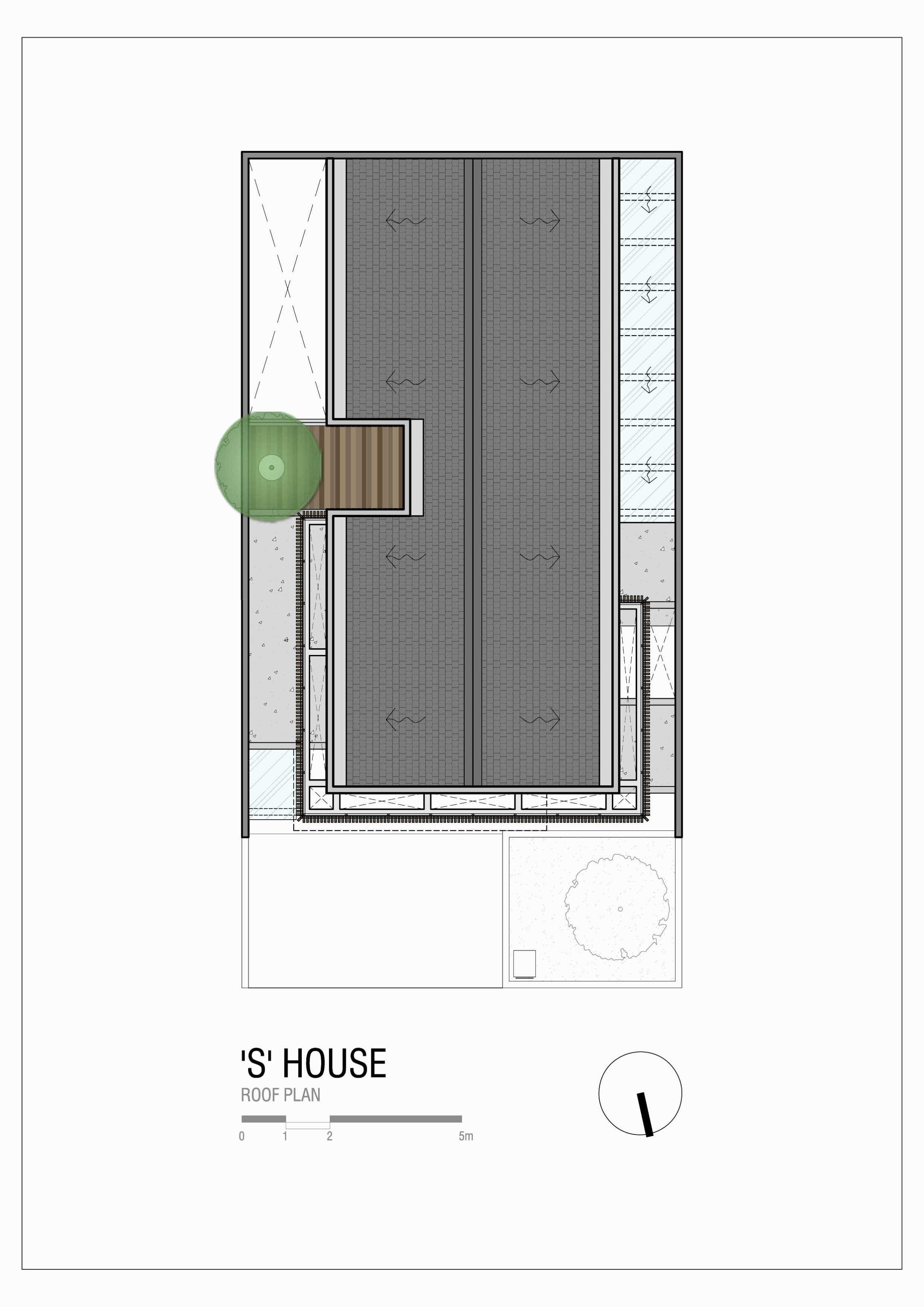 """Simple Projects Architecture """"s"""" House Pakuwon Indah, Surabaya - Indonesia Pakuwon Indah, Surabaya - Indonesia Shouseroof-Plan   45729"""