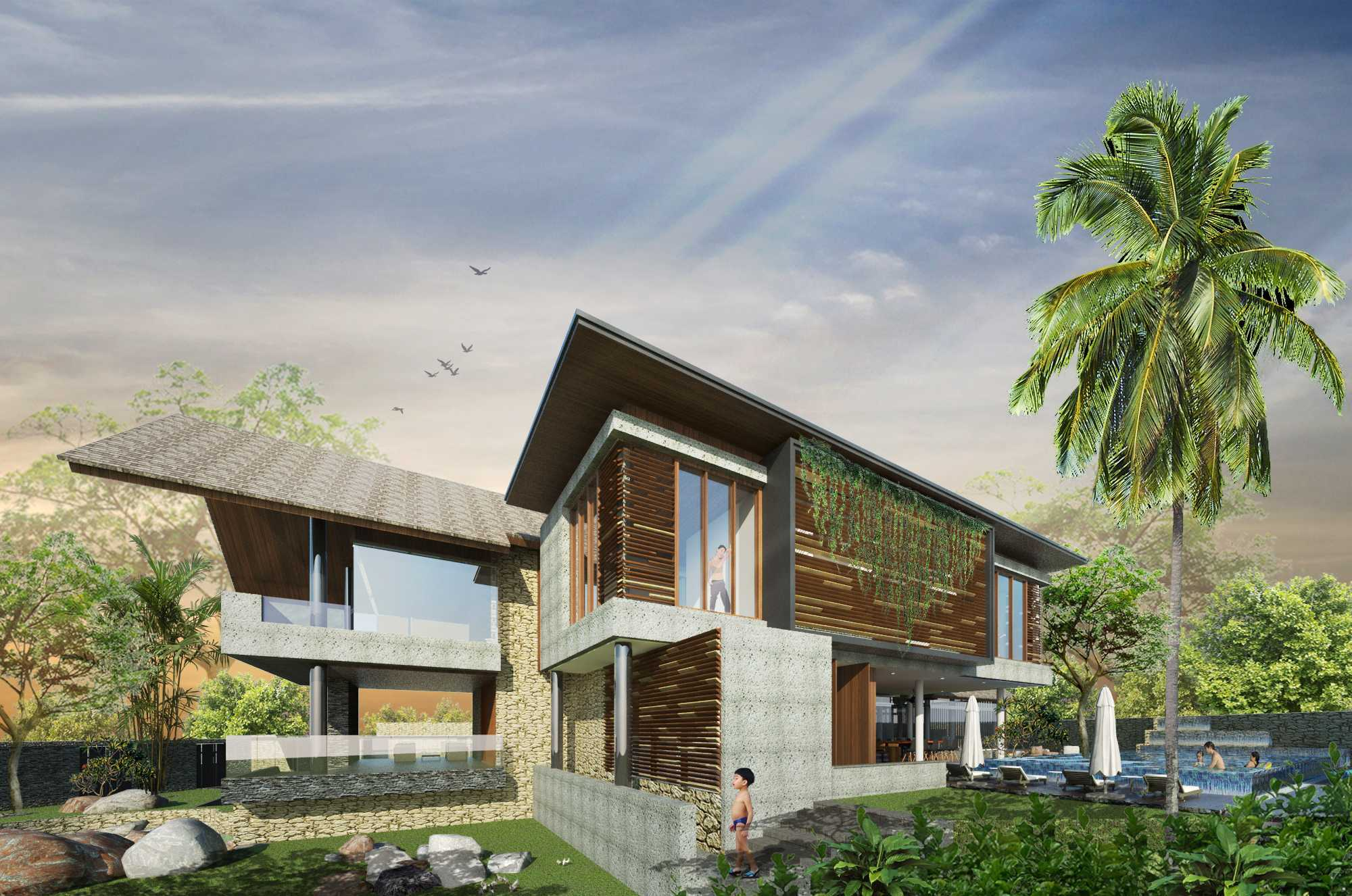Angkasa Architects Gisela House Serpong Serpong Right-Side-Facade-View   20440