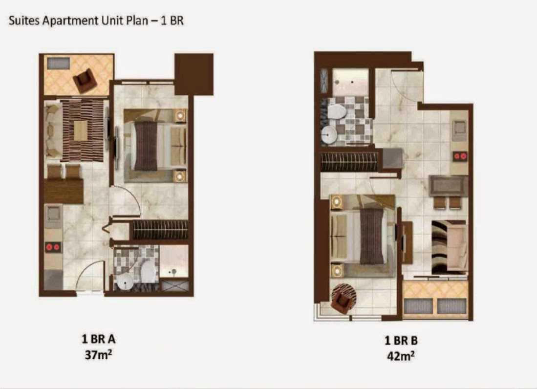 Andreas Budiman Sedayu City Apartment Jakarta, Indonesia Jakarta, Indonesia Suites Apartment Unit Plan 1 Br Modern  20756