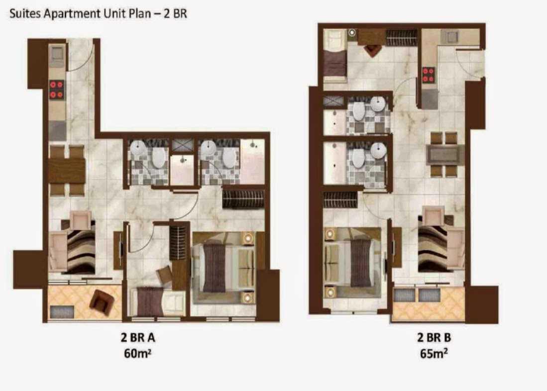 Andreas Budiman Sedayu City Apartment Jakarta, Indonesia Jakarta, Indonesia Suites Apartment Unit Plan 2 Br Modern  20757