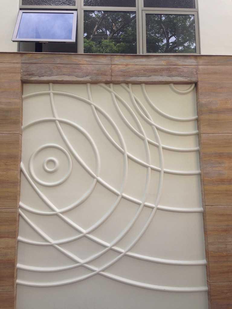 Andre Sutanto Minimalist Corner House Villa Royal Pakuwon City Villa Royal Pakuwon City Exterior - Wall Minimalis  25541