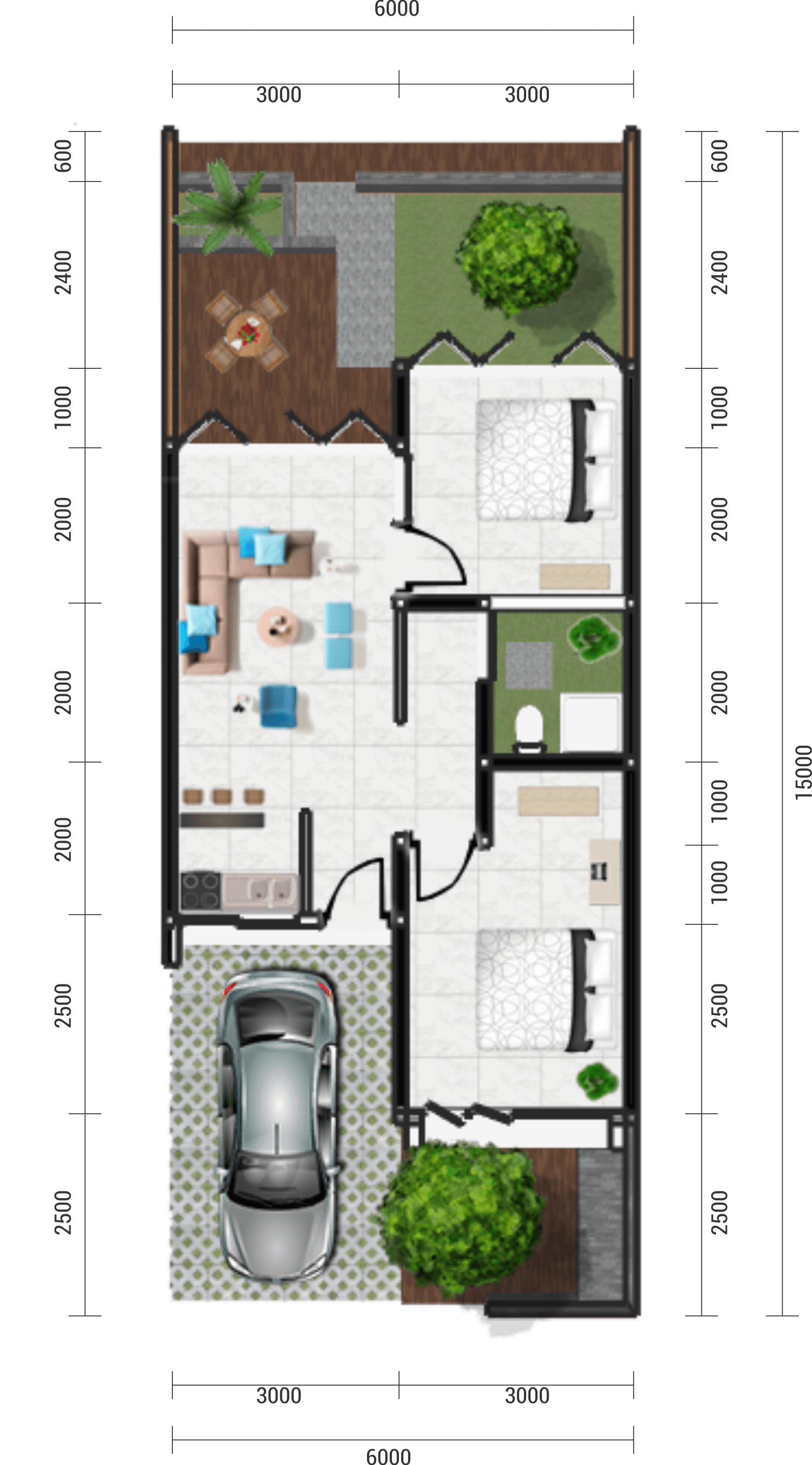 Astabumi Architect & Interior Design Oma Indah Kapuk Surabaya Surabaya Denah   21438