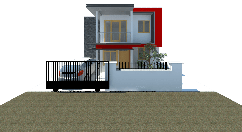 Astabumi Architect & Interior Design Rumah 2 Lantai Modern Minimalis Yogyakarta Yogyakarta Front View Modern  21422