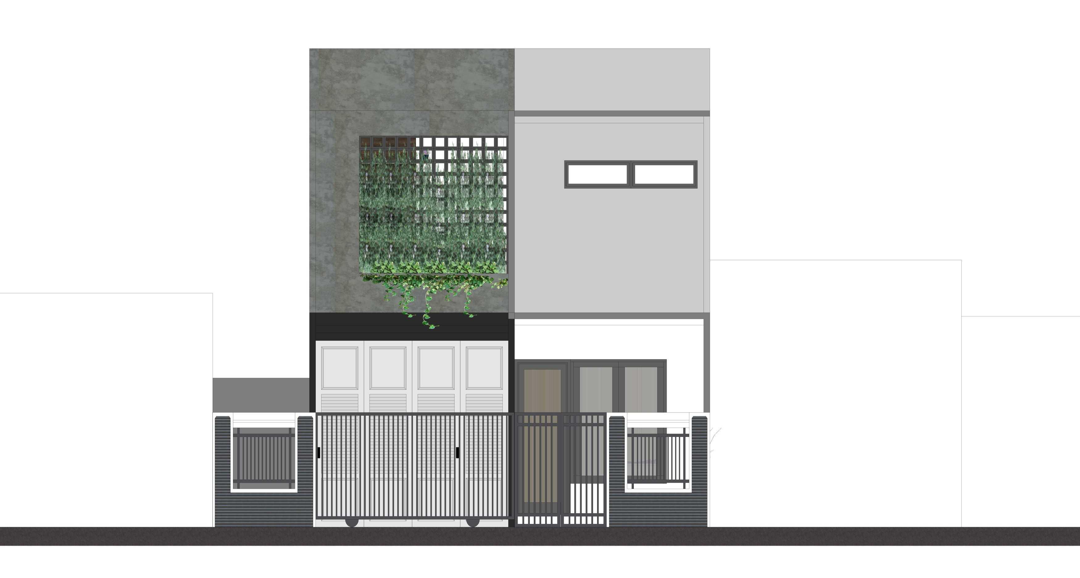 Astabumi Architect & Interior Design Omah De'poso Tegal, Jawa Tengah, Indonesia Tegal, Jawa Tengah, Indonesia Front View Rendering   49850