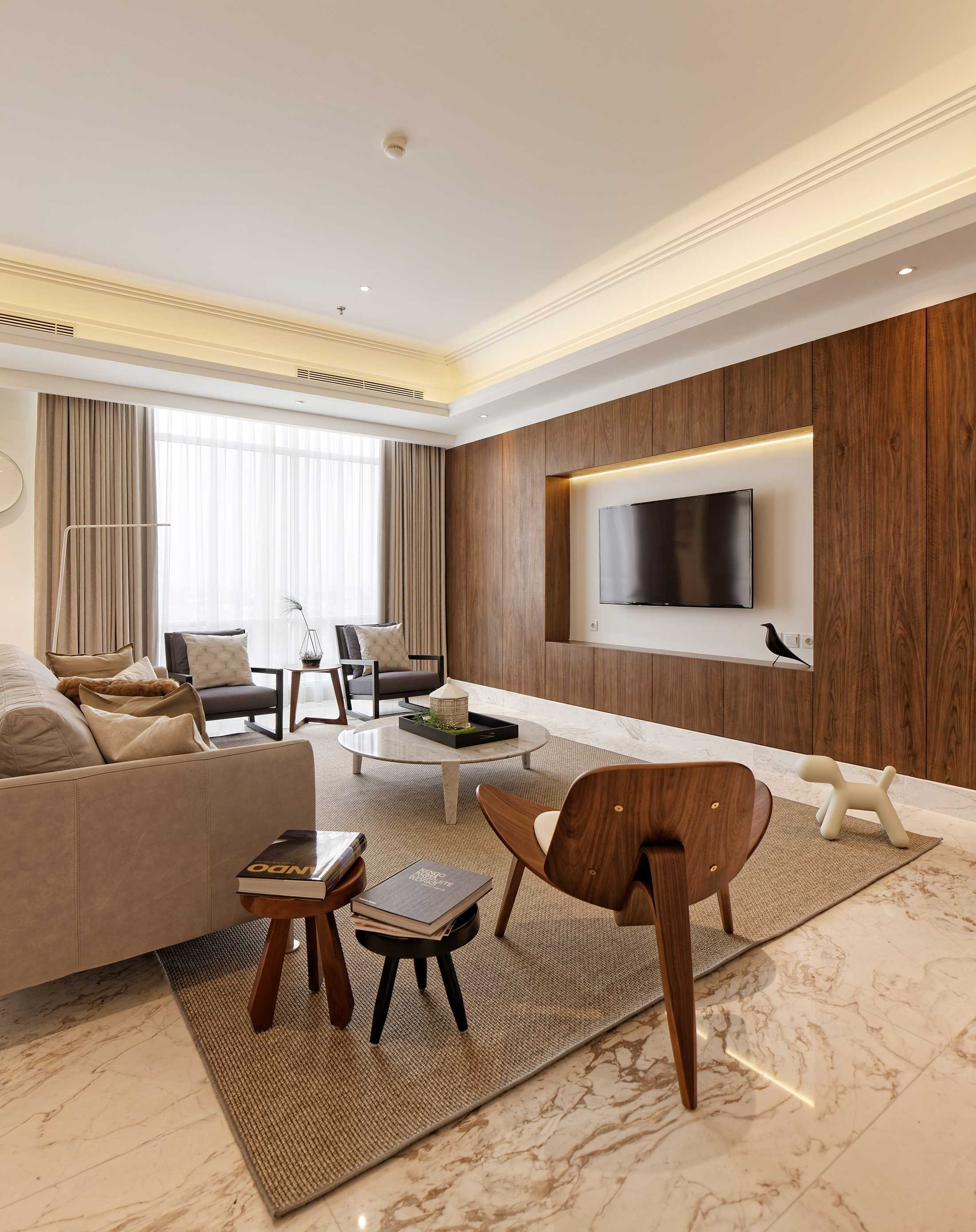Sontani Partners 11A Residence South Jakarta, Indonesia South Jakarta, Indonesia Living Room Contemporary  21393