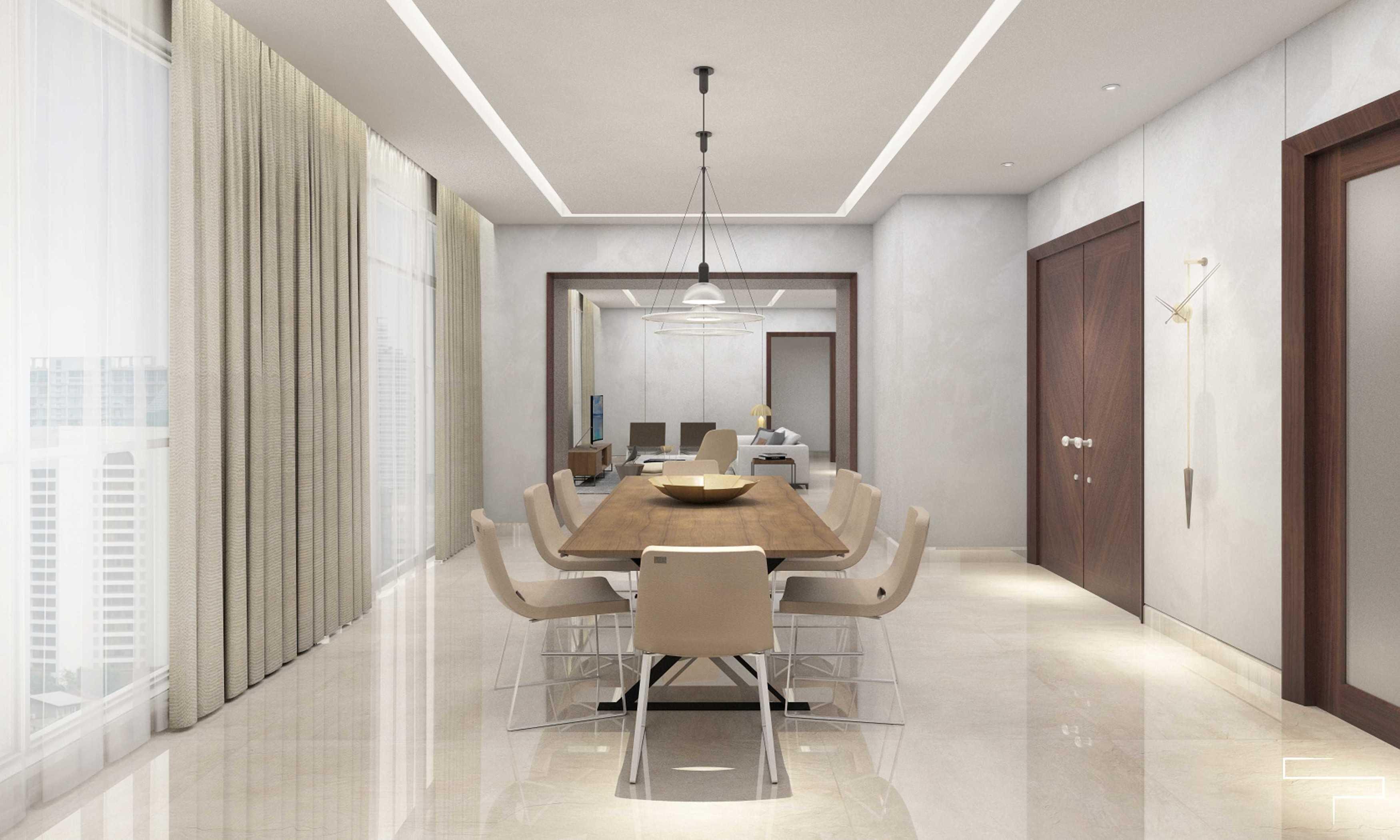Sontani Partners 9B Residence Pakubuwono  Pakubuwono  Dining Room Kontemporer,wood,modern  27615