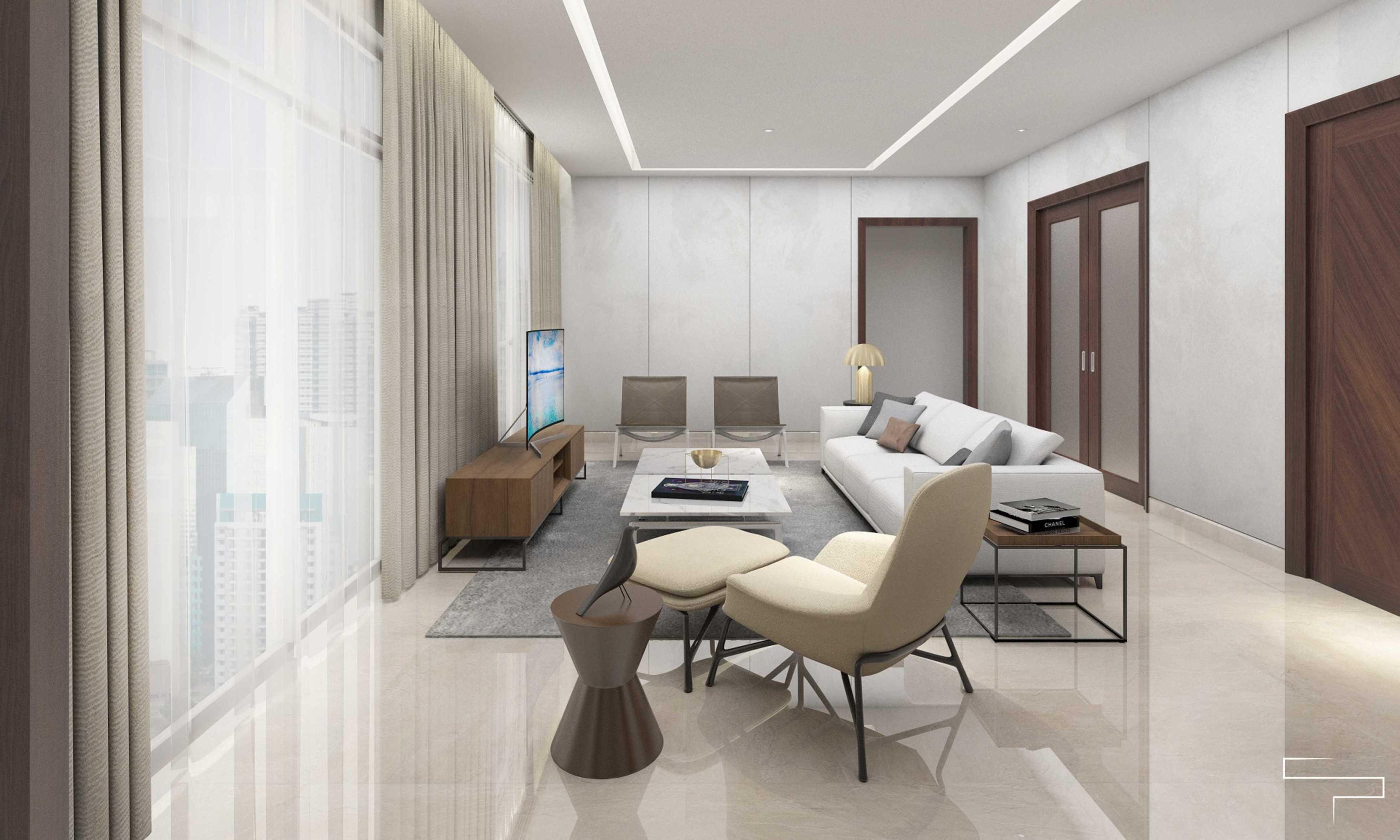 Sontani Partners 9B Residence Pakubuwono  Pakubuwono  Living Room Kontemporer,modern,wood  27616