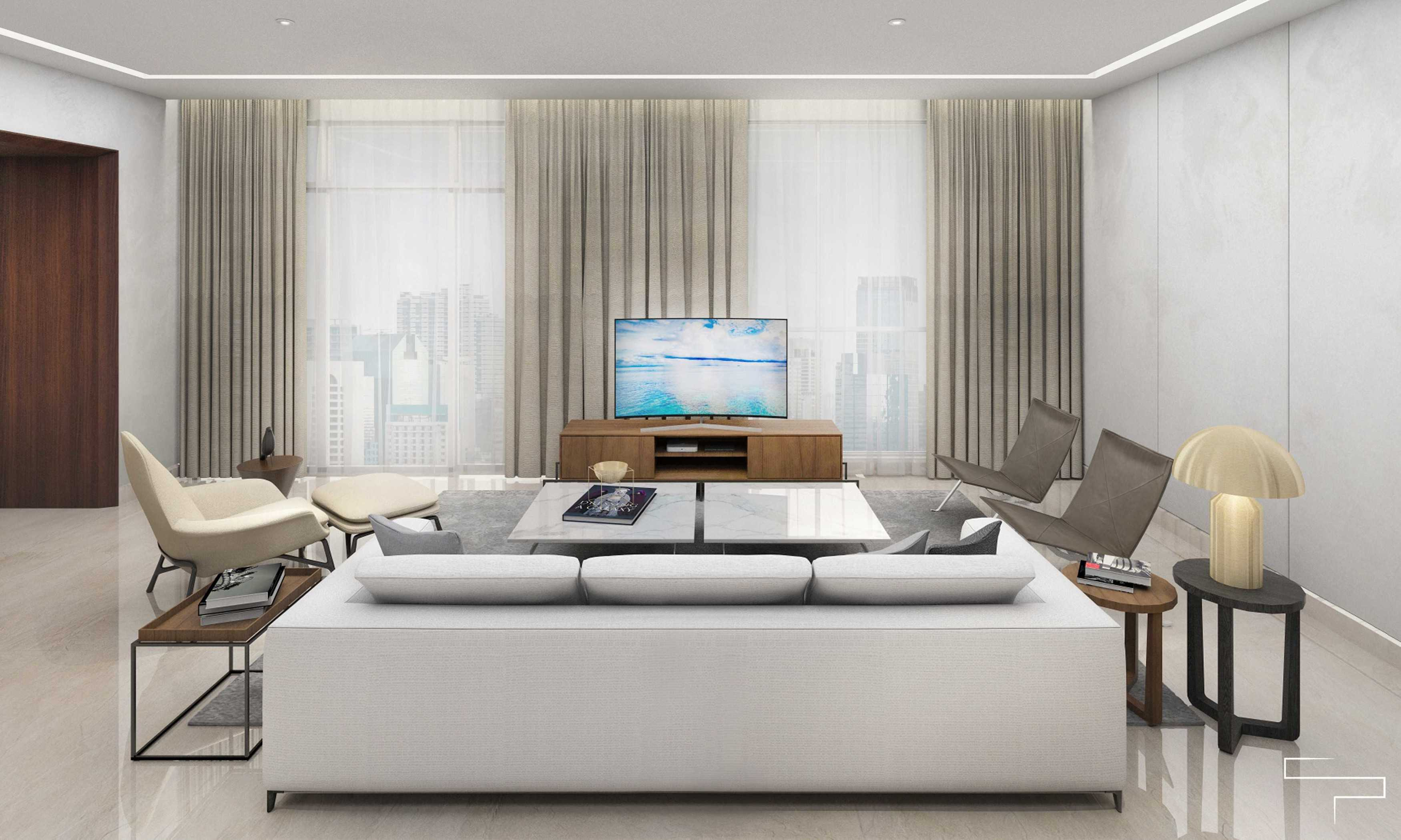 Sontani Partners 9B Residence Pakubuwono  Pakubuwono  Living Room Kontemporer,wood,modern  27618