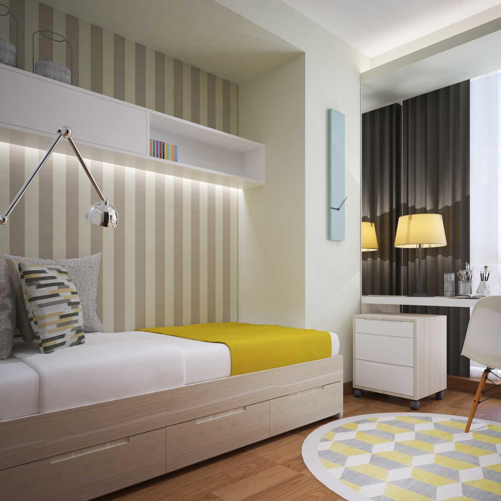 Pt. Garisprada Setiabudi Skygarden Apartmen Setiabudi, South Jakarta City, Jakarta, Indonesia Setiabudi Jakarta Bedroom 2 Skandinavia  25404