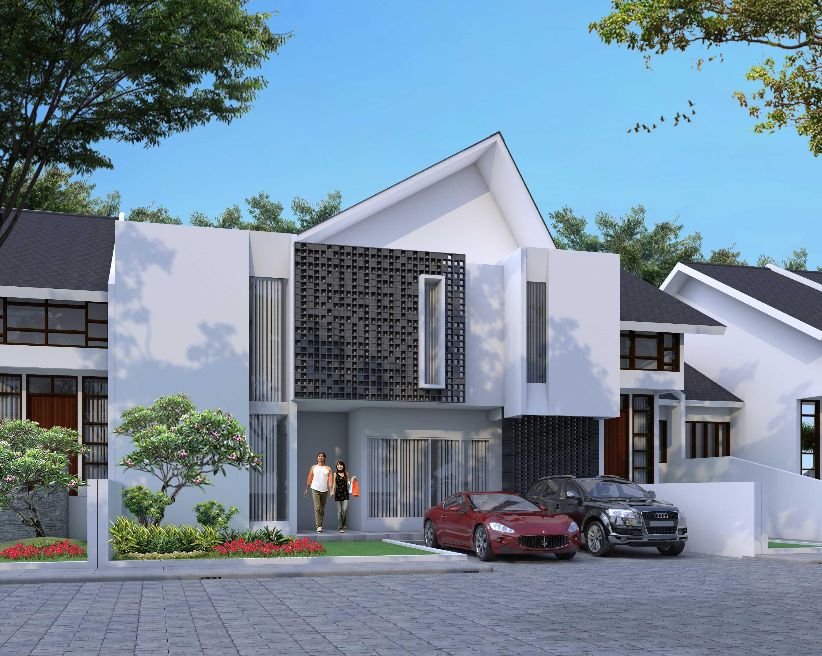 Alinea  Architects Wd House Jl. Jalur Sutera, Kunciran, Pinang, Kota Tangerang, Banten 15143, Indonesia  Front View Rendering Minimalist <P>Facade</p> 39747