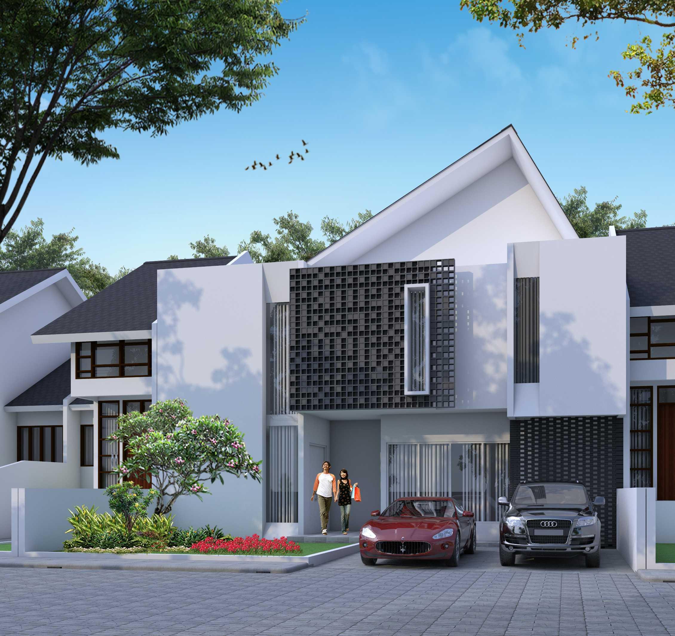 Alinea  Architects Wd House Jl. Jalur Sutera, Kunciran, Pinang, Kota Tangerang, Banten 15143, Indonesia  Front View Rendering Minimalist  39748