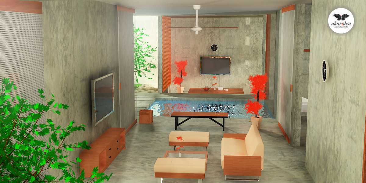 Antoni Winata Joglo House Kavling Dki, Joglo, Jakarta Barat Kavling Dki, Joglo, Jakarta Barat Living Kontemporer,tropis,wood Continuous Space 23117