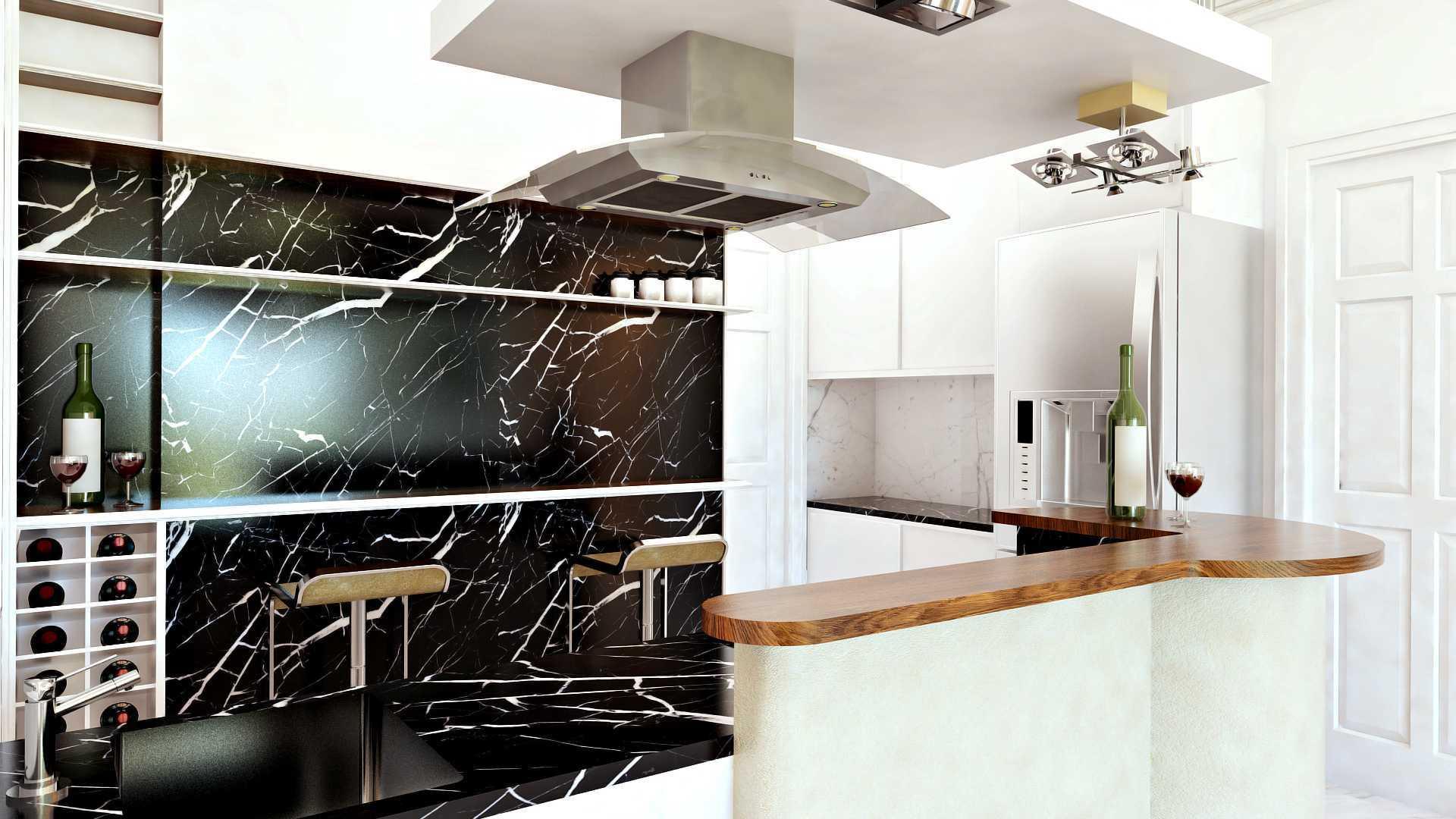 Hive Design & Build Ancol Mansion Jakarta Utara Jakarta Utara Pantry Kontemporer  25933