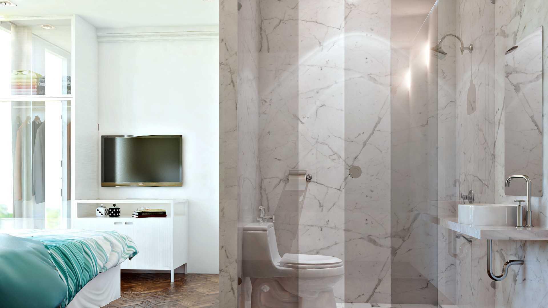 Hive Design & Build Ancol Mansion Jakarta Utara Jakarta Utara Bathroom Kontemporer  25936