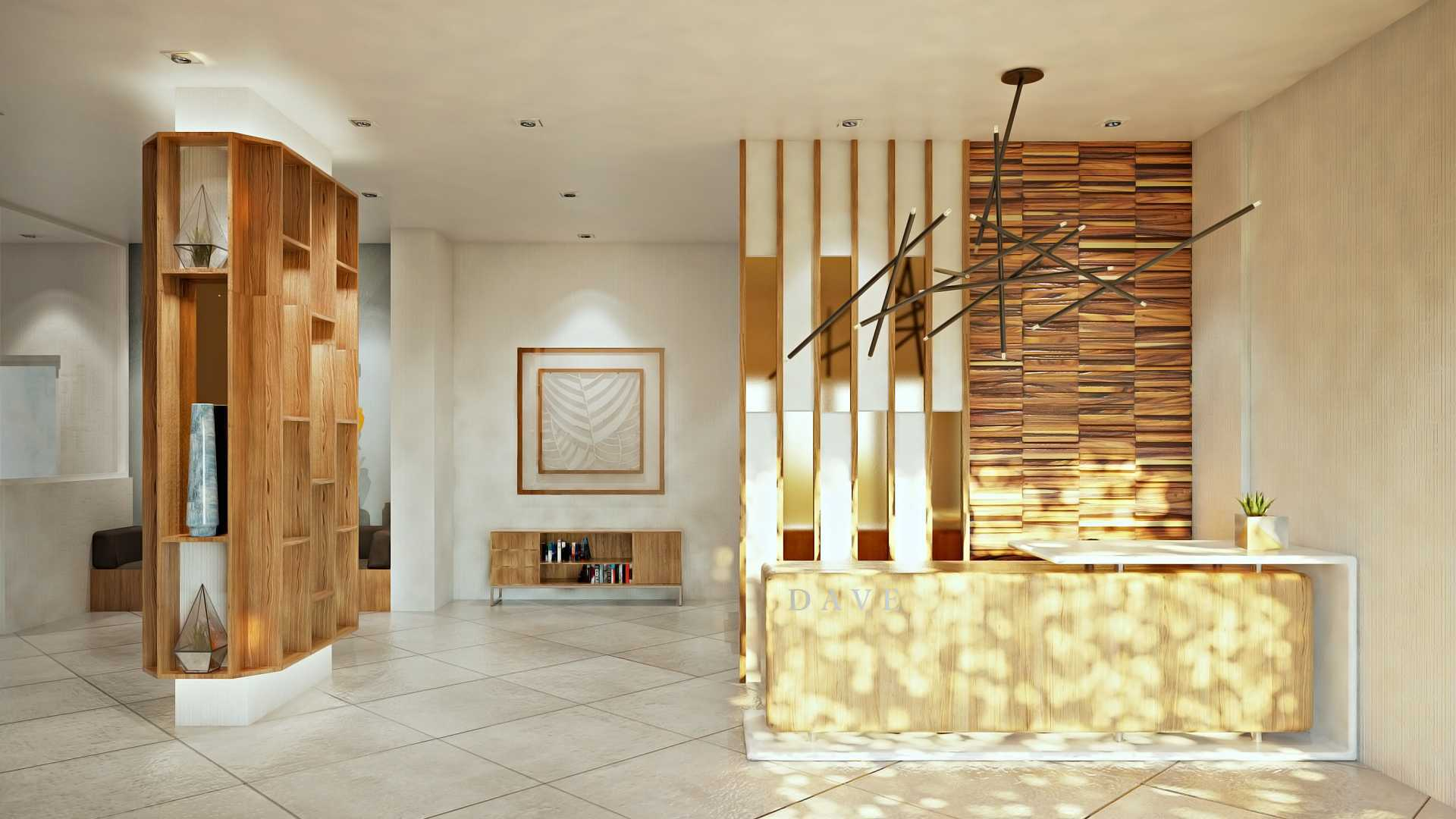 Hive Design & Build Dave Depok Depok Reception Area Modern  25960