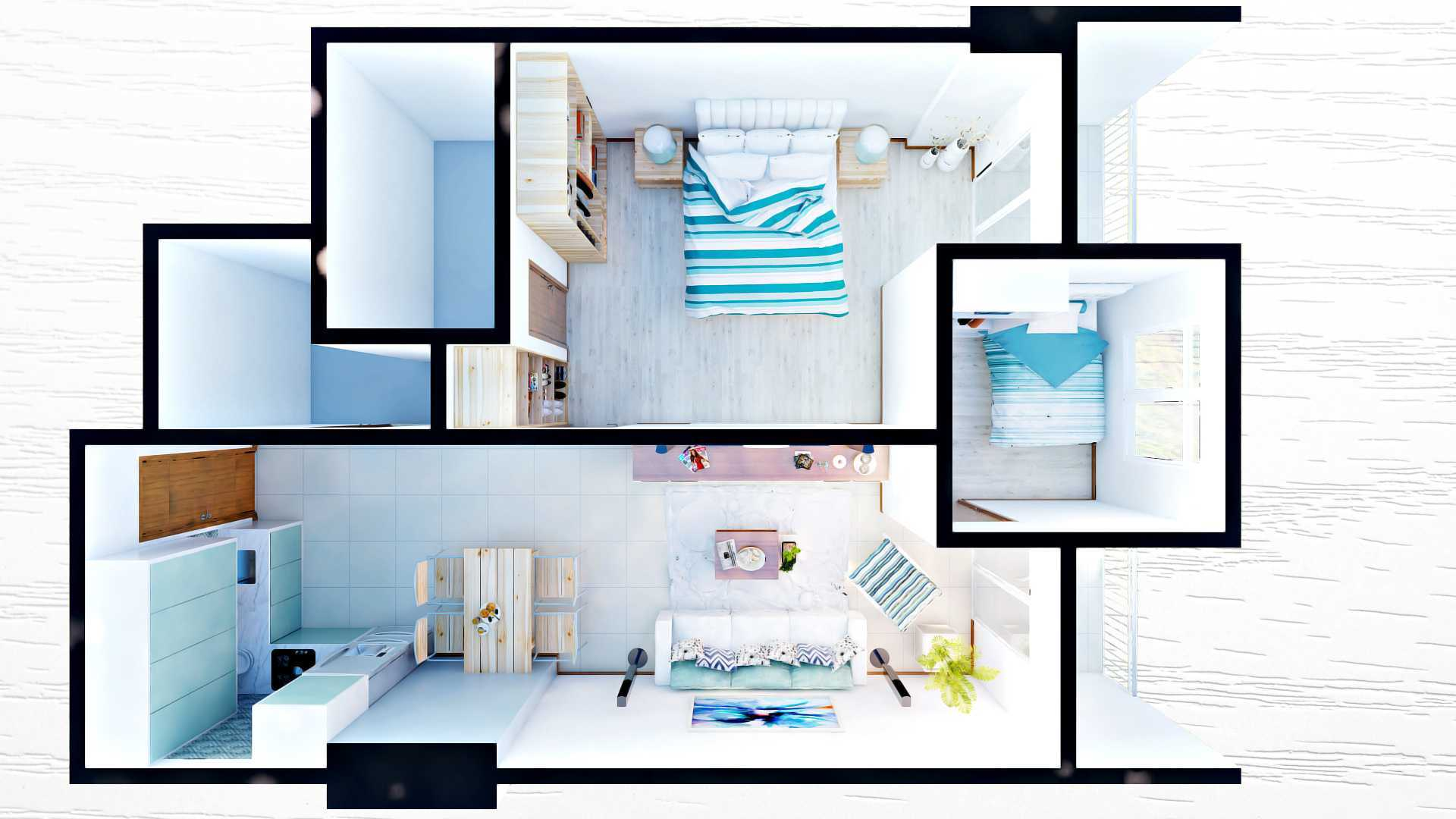 Hive Design & Build Green Bay Apartment Jakarta Jakarta F Modern  26317