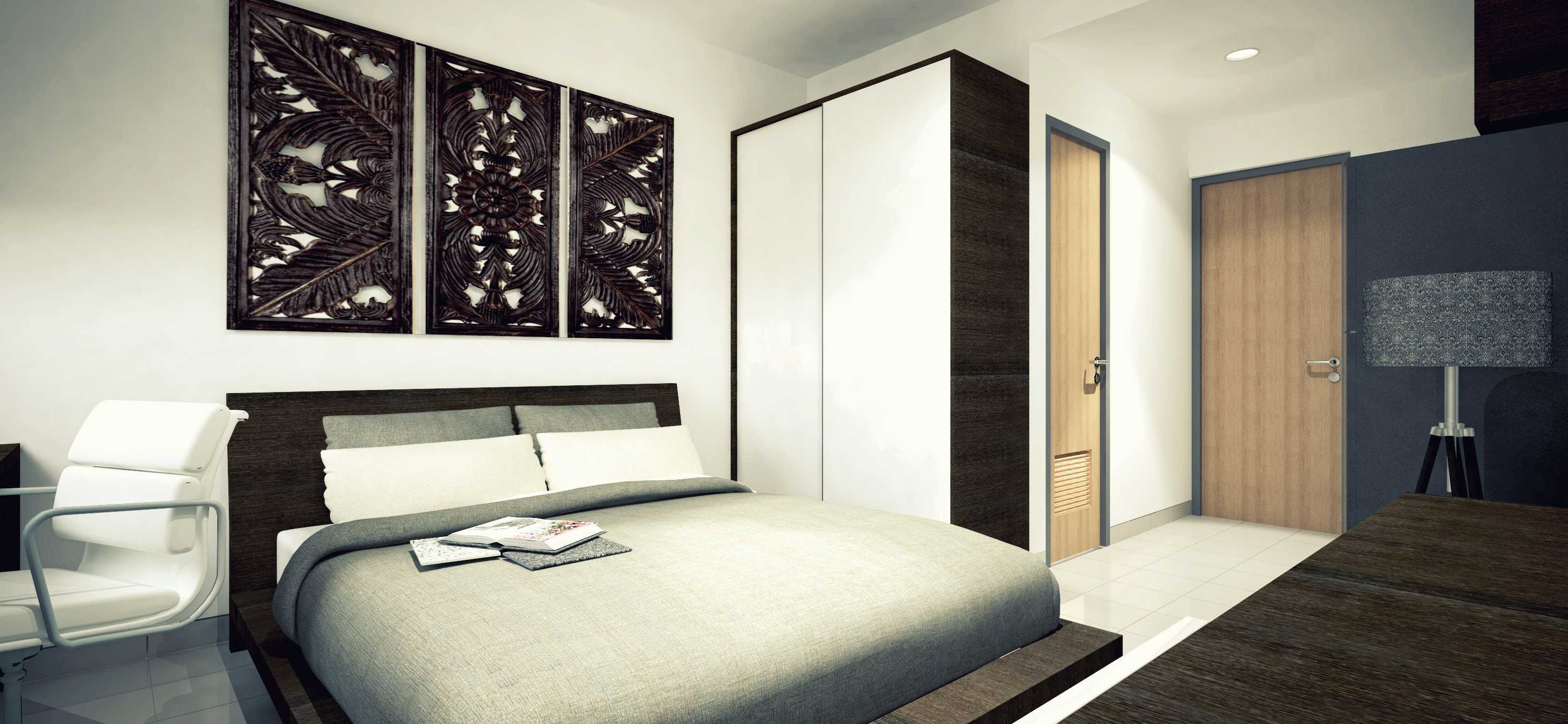 Modern Single Bed. Rekamagna Apartment   Studio Unit Type 21a Single Bed  Cibitung,