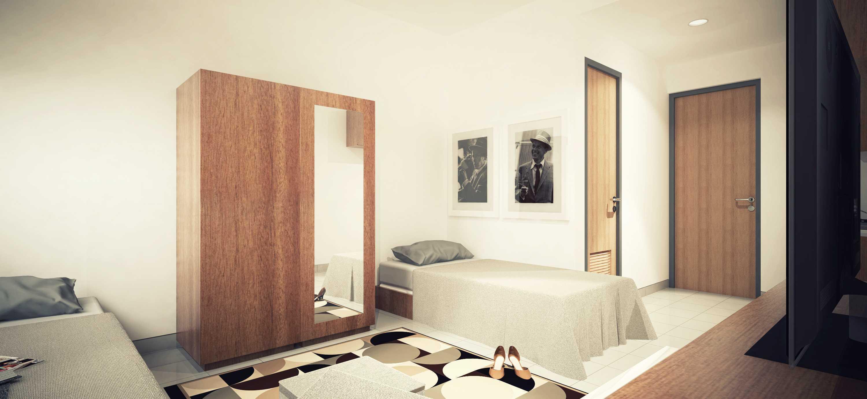 Dimas Andrea Apartment - Studio Unit Type 21B - Twin Bed Karawang, Bekasi Karawang, Bekasi Single-Twin Minimalis,modern  23801