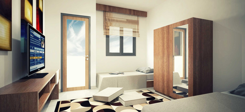 Dimas Andrea Apartment - Studio Unit Type 21B - Twin Bed Karawang, Bekasi Karawang, Bekasi Apartment Room Minimalis,modern  23803