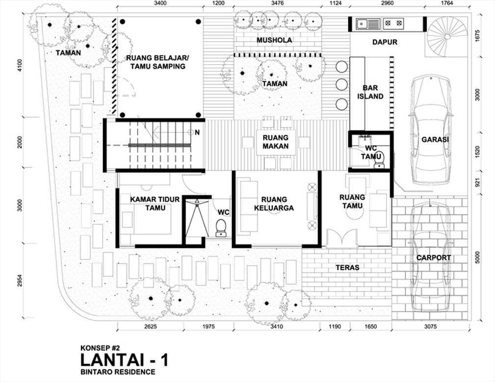 Bral Architect Bintaro House Bintaro, Pesanggrahan, South Jakarta City, Jakarta, Indonesia Bintaro Denah Modern  24846
