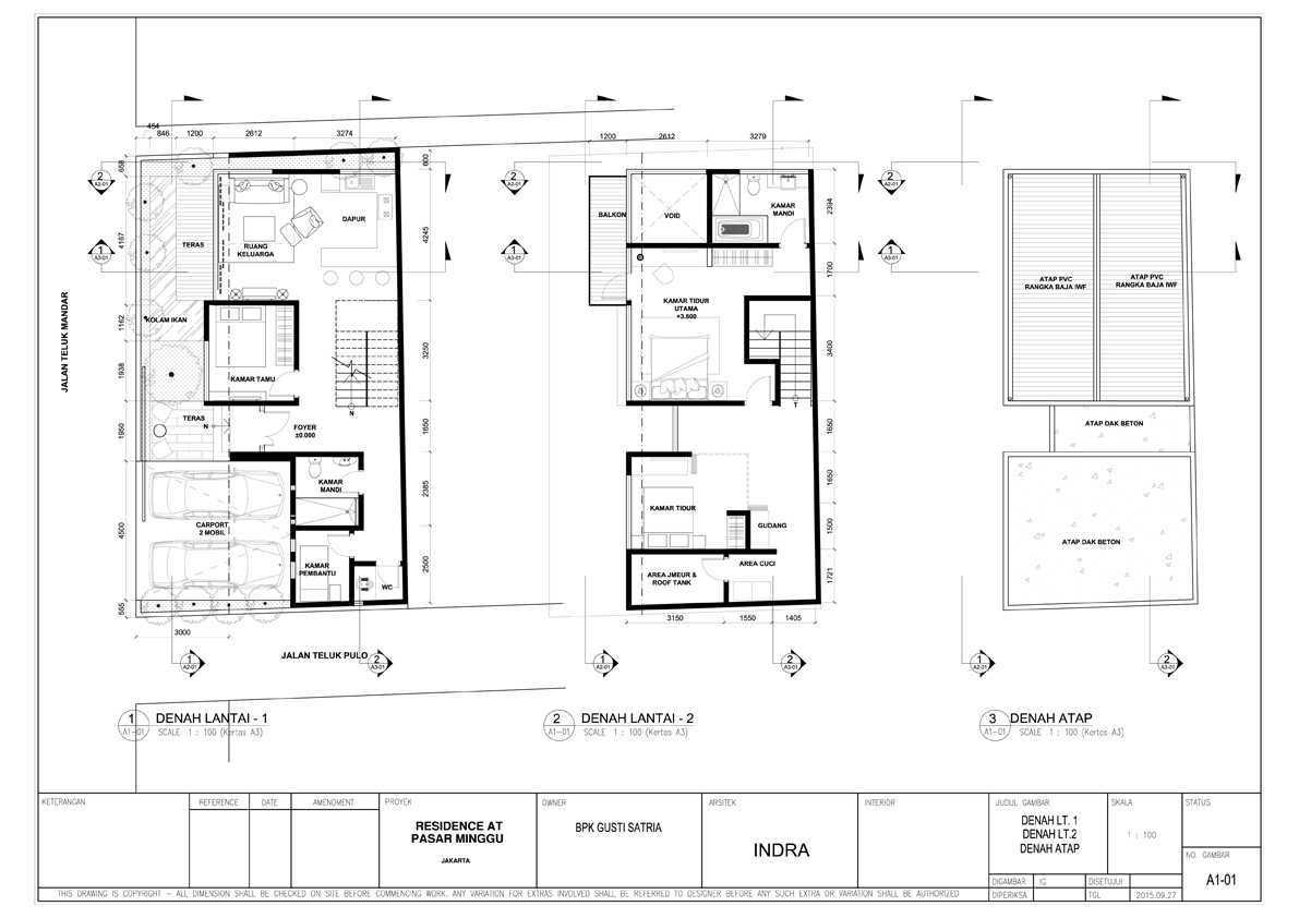 Bral Architect Satria Residence Pasar Minggu, South Jakarta City, Jakarta, Indonesia Pasar Minggu, Jakarta Satria-Layout Modern  24920