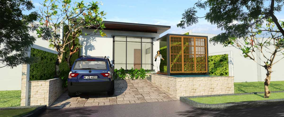Bral Architect Jatiwarna Small House Jatiwarna, Bekasi Jatiwarna, Bekasi Facade-White-Modern Tropis  25846
