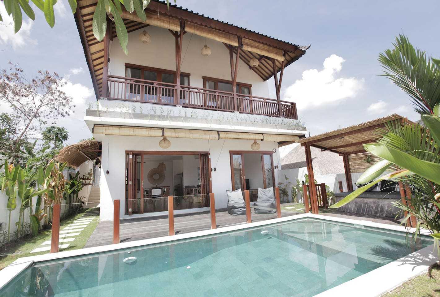 Hg Architects & Designers Associates Villa Pererenan Pererenan, Mengwi, Kabupaten Badung, Bali, Indonesia Pererenan, Mengwi, Kabupaten Badung, Bali, Indonesia Swimming Pool View Scandinavian  48586