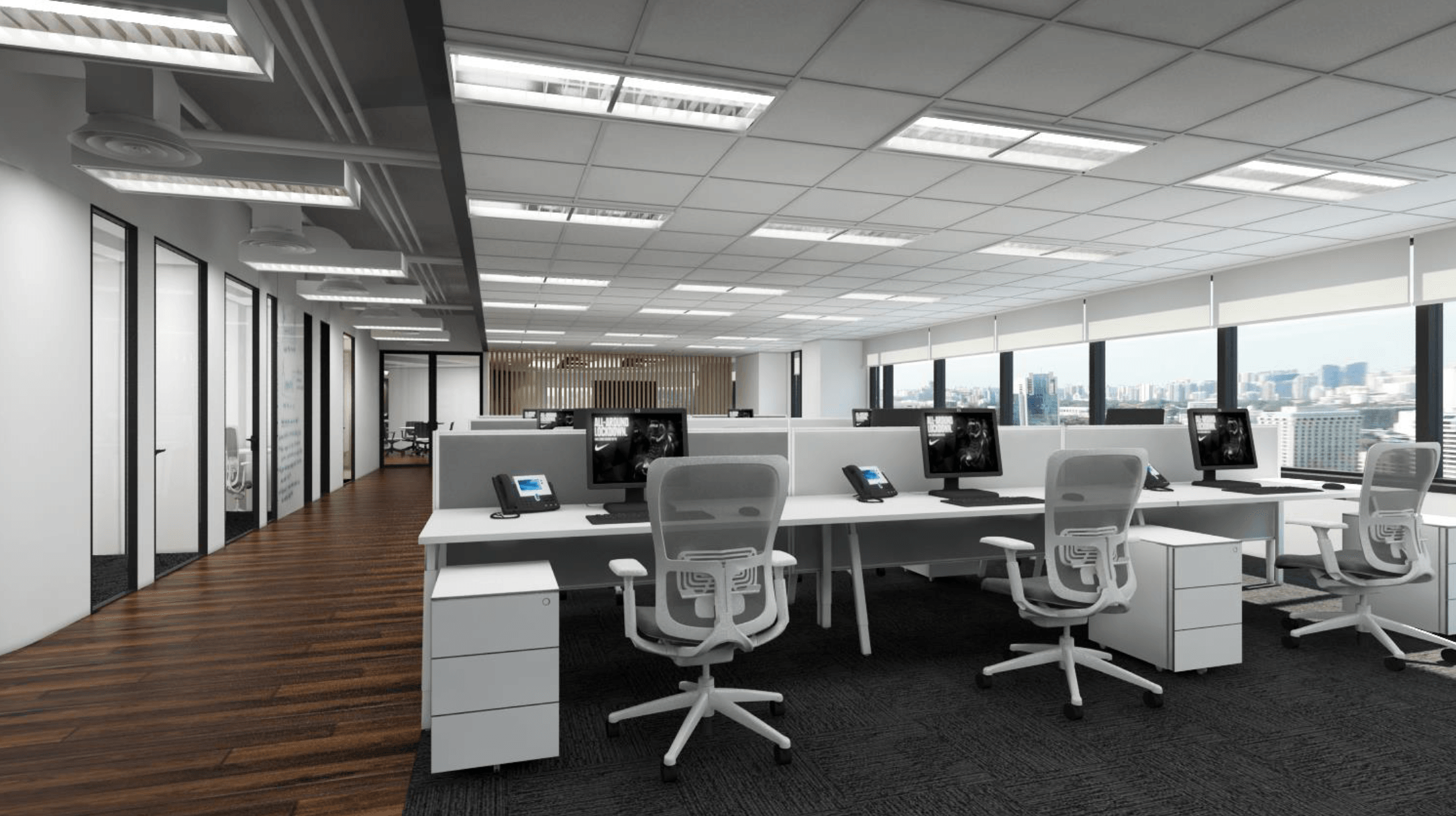 Gurkan Izci Nike Office Expansion Project Stock Exchange Building  Stock Exchange Building  Open Work Space Modern  24734