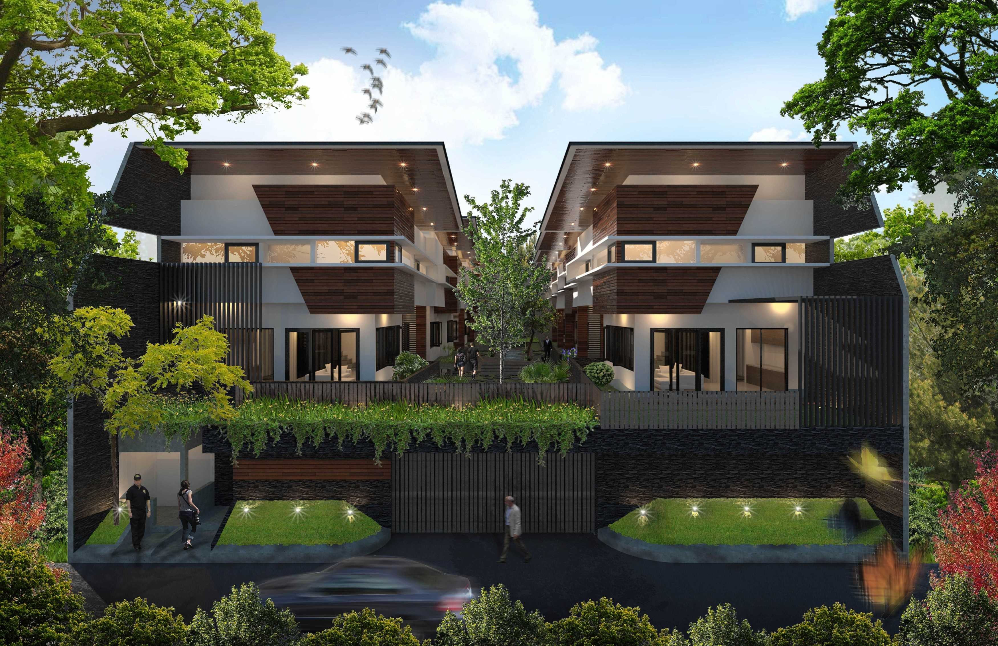 Mahastudio & Partner Bangka Townhouse Kemang, Jakarta Selatan Kemang, Jakarta Selatan Front View Tropis  25236